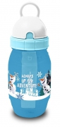 Disney Frozen 'Olaf' Pixie Flip Top Straw Cap Freeze Water Bottle