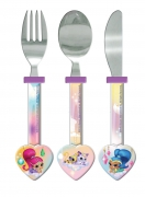 Shimmer and Shine 'Heart Shaped' Cutlery