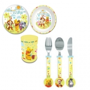 Disney Winnie The Pooh 'Tbp Set with Cutlery' Dinner