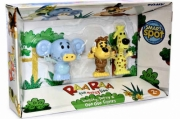 Raa The Noisy Lion 'Huffty, Ooo Ooo, Topsy' Interactive Figure Pack' Toy