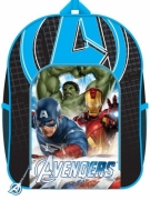 The Avengers 'Hulk, Spiderman, Iron Man' Pvc Front Pocket School Bag Rucksack Backpack