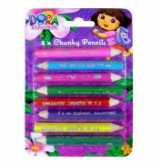 Dora The Explorer 8 Pk Chunky Pencil Stationery