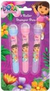 Dora The Explorer 3 Pk Roller Stamper Pens Stationery