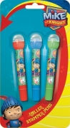 Mike The Knight 3 Pack Roller Stamper Pens Stationery