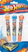 Hot Wheels 3 Pack Roller Stamper Pens Stationery