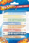 Hot Wheels 8 Pack Chunky Crayon Stationery