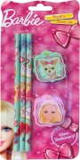 Barbie 'Pencil and Eraser' Pencil & Eraser Set Stationery