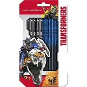 Transformers 10 Piece Colouring Pencils Stationery