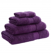Towel Range Egyption 550 Gsm Aubergine Plain Bath
