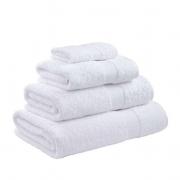 Towel Range Egyptian 550gsm White Plain Bath