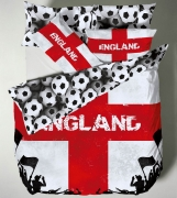 Catherine Lansfield England Multi Half Set Bedding Double Duvet Cover