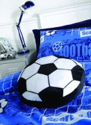 Catherine Lansfield Kids It' S a Goal Multi Fc Football Shaped Cushion Official
