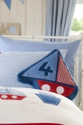 Catherine Lansfield 'Sailing Boats' Shaped Cushion