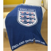 England Fc Football Panel Official Fleece Blanket Throw