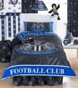 Newcastle Fc Crest Football Panel Official Single Bed Duvet Quilt Cover Set