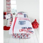 England Graffiti Fc Football Panel Official Single Bed Duvet Quilt Cover Set