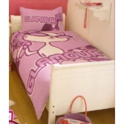 Glamour Puss Panel Single Bed Duvet Quilt Cover Set