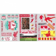 Liverpool Fc 32 Piece Football Wall Sticker Official