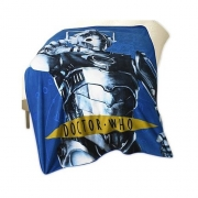 Dr Who Cyberman Panel Fleece Blanket Throw