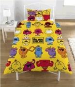 Mr Men Show Rotary Single Bed Duvet Quilt Cover Set