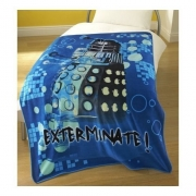 Doctor Who Exterminate Panel Fleece Blanket Throw