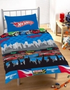 Hot Wheels Race Rotary Single Bed Duvet Quilt Cover Set