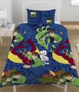 Ben 10 Alien Force Rotary Single Bed Duvet Quilt Cover Set