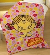 Little Miss Sunshine Panel Fleece Blanket Throw
