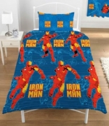 Iron Man Rotary Single Bed Duvet Quilt Cover Set