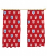 England Classic Red Fc Football Official 66 X 54 inch Drop Curtain Pair