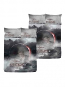 Twilight Eclipse Reversible Panel Double Bed Duvet Quilt Cover Set