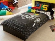 Jls Portrait Panel Single Bed Duvet Quilt Cover Set
