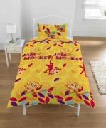 Tinga Jambo Monkey Rotary Single Bed Duvet Quilt Cover Set