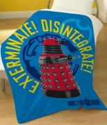 Dr Who Drone Panel Fleece Blanket Throw
