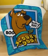Scooby Doo Boo Panel Fleece Blanket Throw