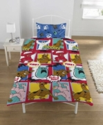 Scooby Doo Monsters Rotary Single Bed Duvet Quilt Cover Set