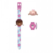 Disney Doc Mcstuffins 'Interchangeable Heads' Wrist Watch