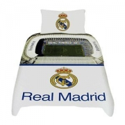 Real Madrid Staduim Fc Football Panel Official Single Bed Duvet Quilt Cover Set