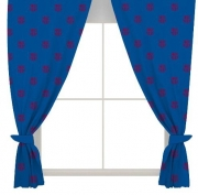 Barcelona Fc Football Official 66 X 72 inch Drop Curtain Pair