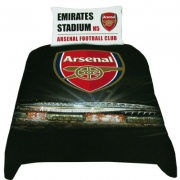 Arsenal F.c. Stadium Fc Football Panel Official Single Bed Duvet Quilt Cover Set