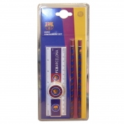 Barcelona Fc 'Wordmark' Core Football Stationery Set Official