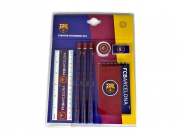 Barcelona Fc 'Wordmark' Stationery Set Football Official