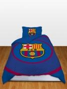 Barcelona Fc 'Bullseye' Football Panel Official Single Bed Duvet Quilt Cover Set