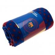 Barcelona Fc 'Bullseye' Football Panel Official Fleece Blanket Throw