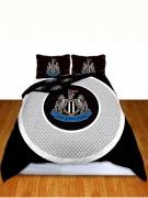 Newcastle United Fc 'Bullseye' Football Panel Official Double Bed Duvet Quilt Cover Set