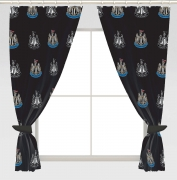 Newcastle United Fc Football Repeat Crest Official 72 inch Curtain Pair
