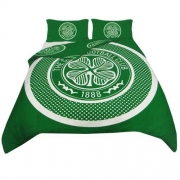 Celtic Fc ' Bullseye Football Panel Official Double Bed Duvet Quilt Cover Set