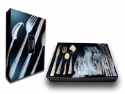Premier Stainless Steel Hammered 24 Piece Set Cutlery