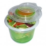 Ez Freeze Salad To Go Green, 2 In 1 Containers 750ml & 65ml Cool Gear