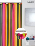 'Calypso' with Decorative Hooks Hook Shower Curtain